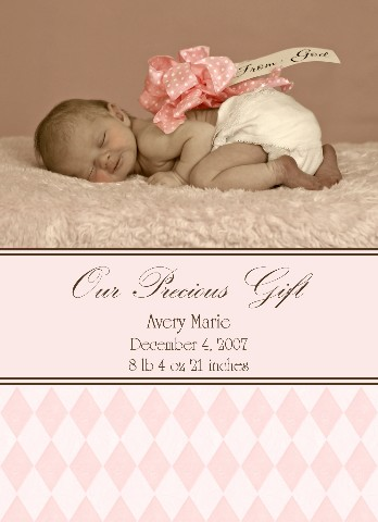 Christmas  on Read More About Our Baby Photo Announcements   Powerful Card Design