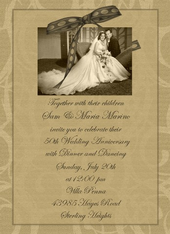 50th Anniversary Party Invitation 50th Wedding Anniversary Celebration