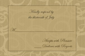 50th Anniversary Party Response Card
