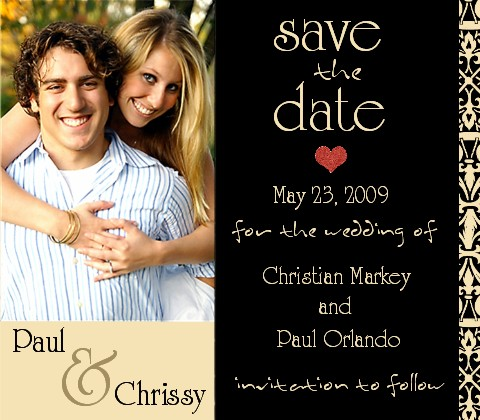 Save the Date Wedding announcement